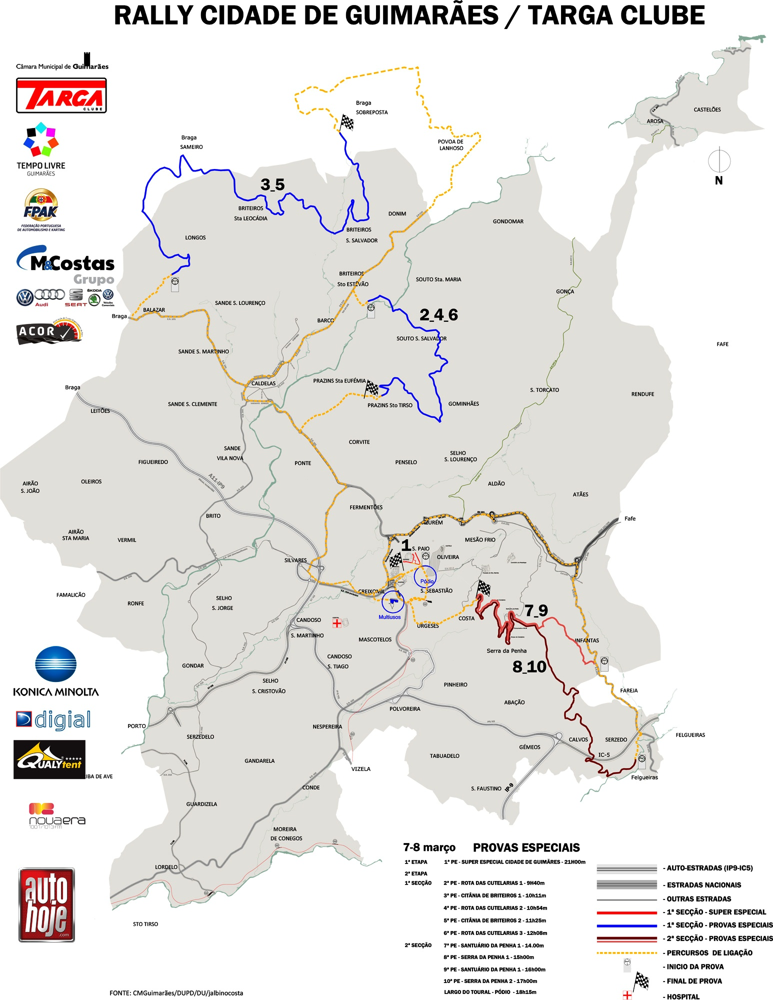 mapa rali portugal Mapa Rali Cidade de Guimarães 2014 mapa rali portugal