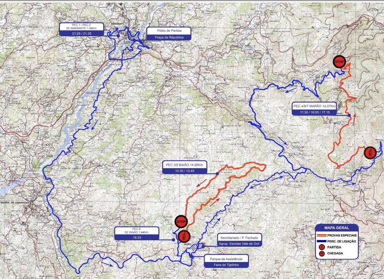 Mapa Rali Baiao Amarante