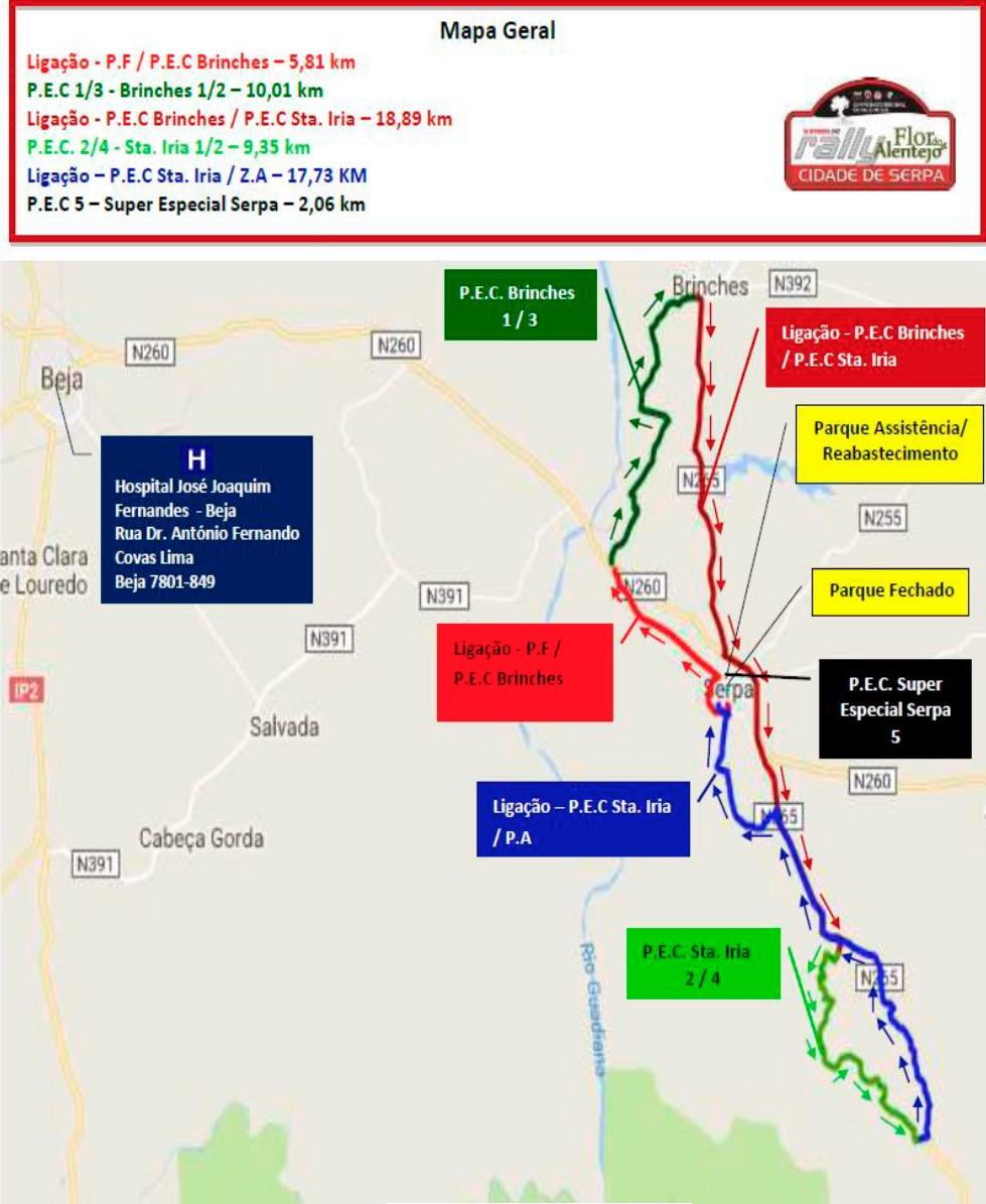 serpa mapa MAPA RALI DE SERPA 2017 serpa mapa
